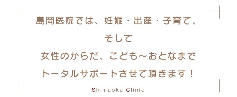 島岡医院では、妊娠・出産・子育てをトータルサポートさせて頂きます!